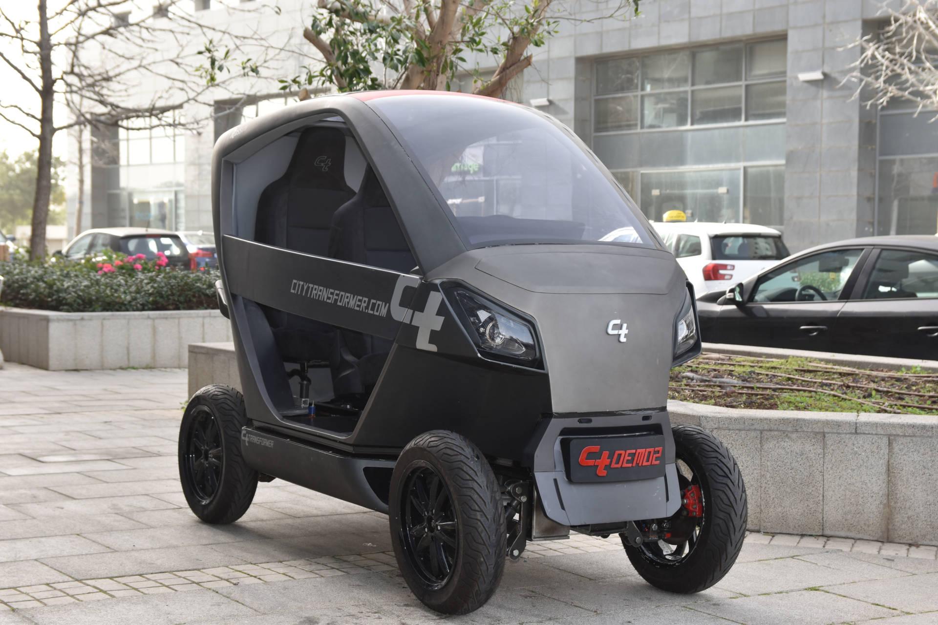 "Modell Faltbares E-Auto ""City Transformer"""