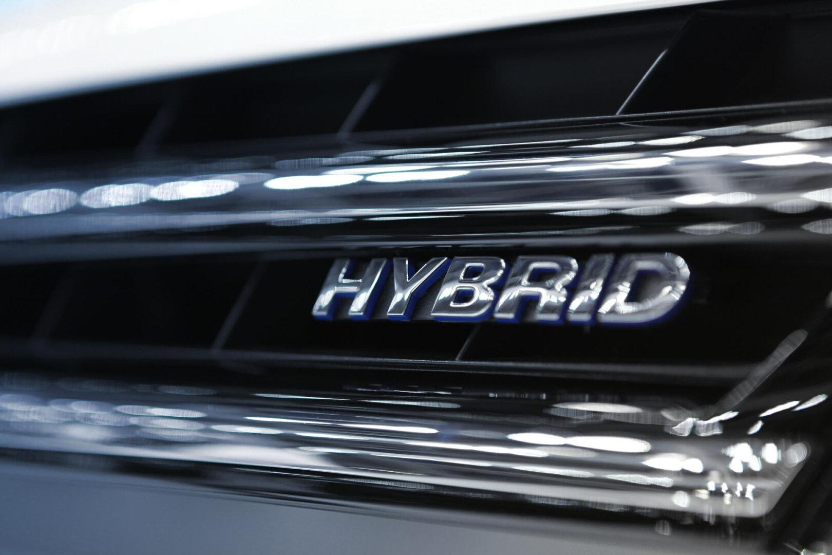 Kühlergrill von Hybrid-Auto
