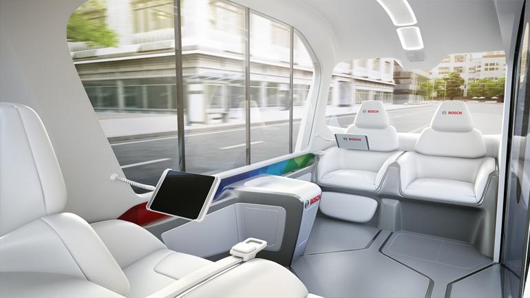 Bosch E-Shuttle Innenraum