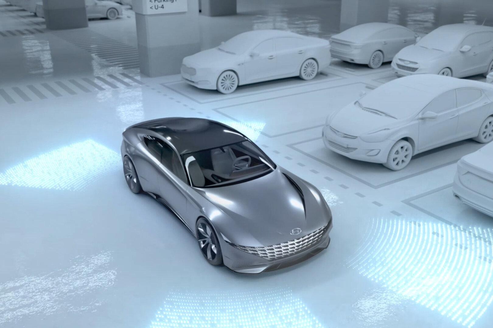 E-Auto im Parkhaus