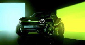 VW E-SUV in schwarz