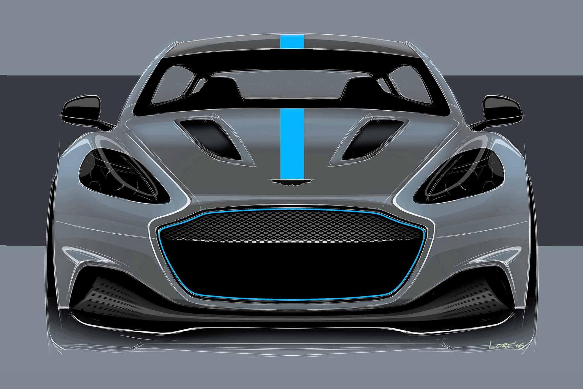 Gezeichneter Aston Martin.