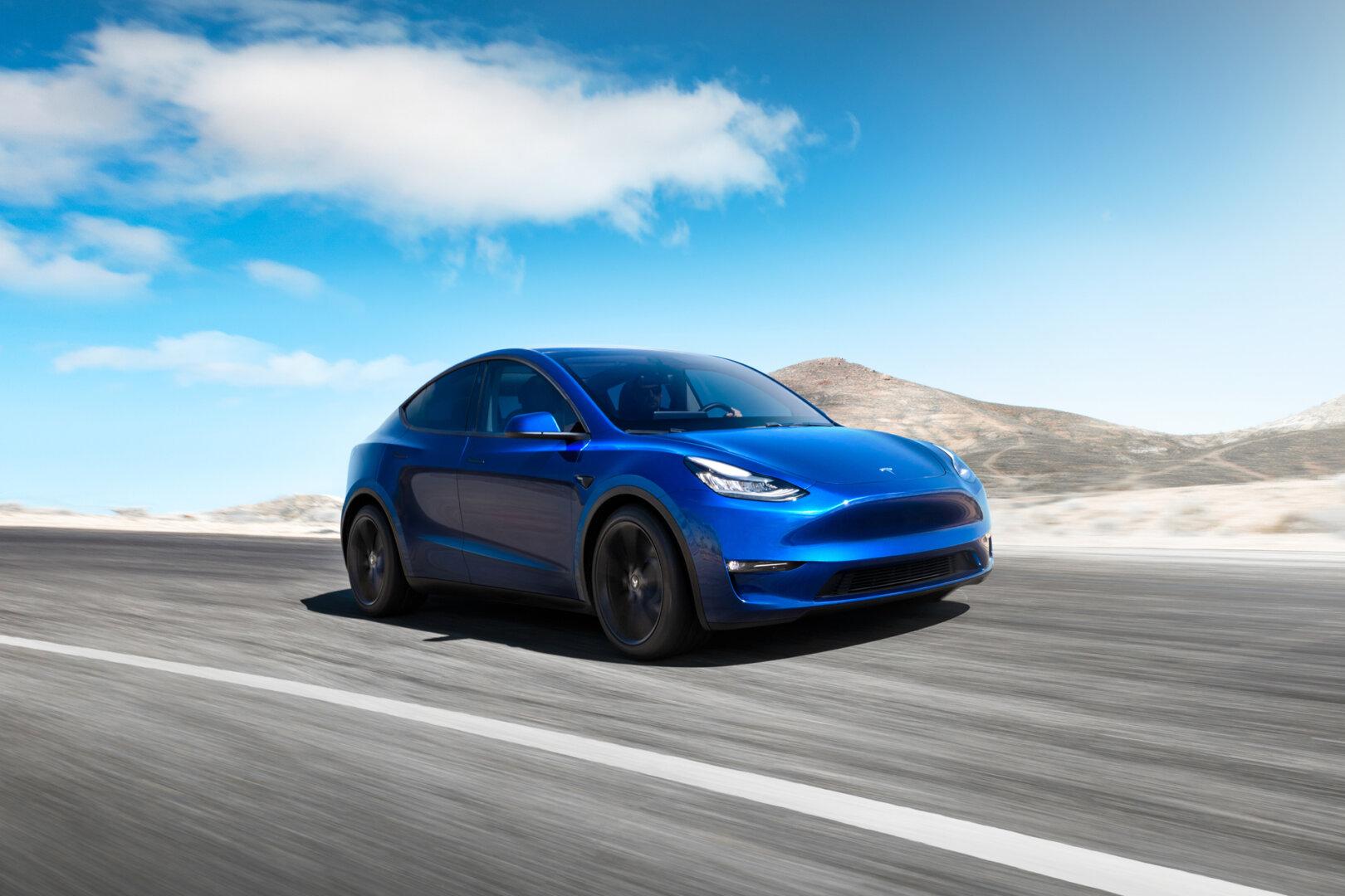 Tesla Model Y Front 34 Blue