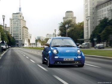 Blauer E Go Life Elektroauto